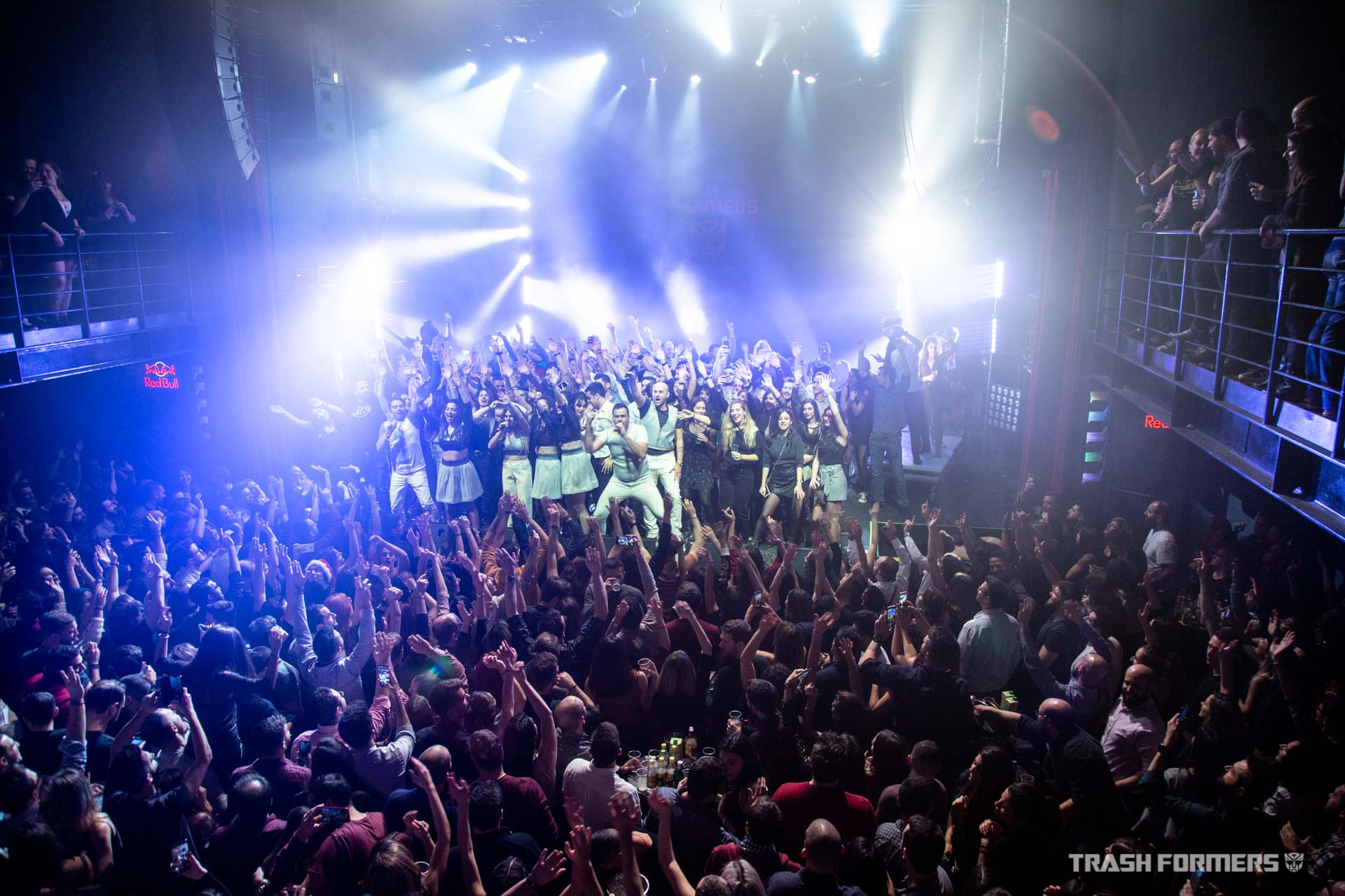 Trashformers Show in Fuzz, Athens / United we stand (on the stage)